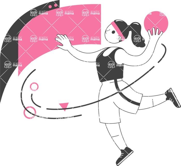 Modern Flat People Illustrations Bundle - free-people-illustration-44