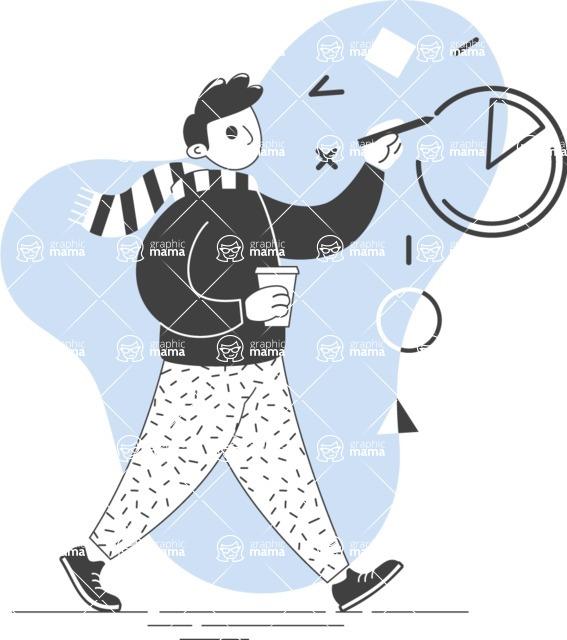 Modern Flat People Illustrations Bundle - free-people-illustration-50
