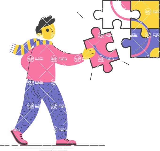 Modern Flat People Illustrations Bundle - free-people-illustration-53
