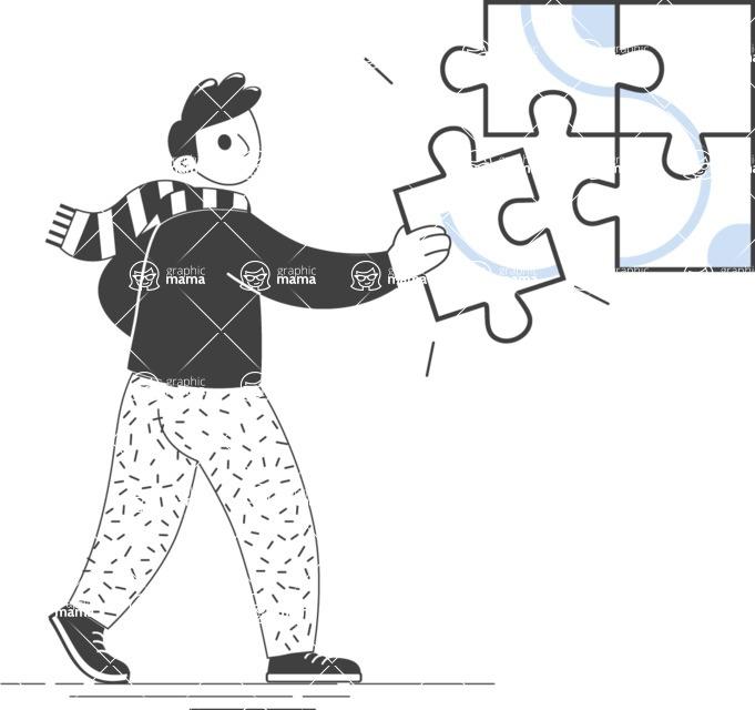 Modern Flat People Illustrations Bundle - free-people-illustration-54