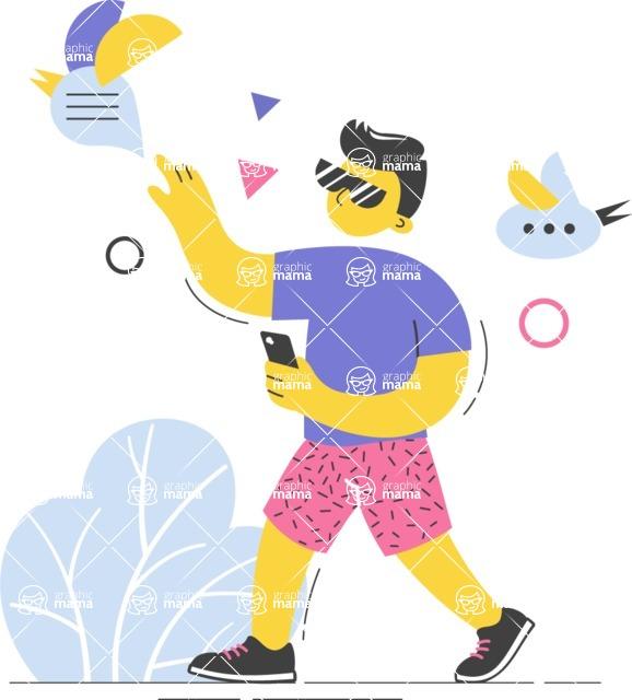 Modern Flat People Illustrations Bundle - free-people-illustration-63