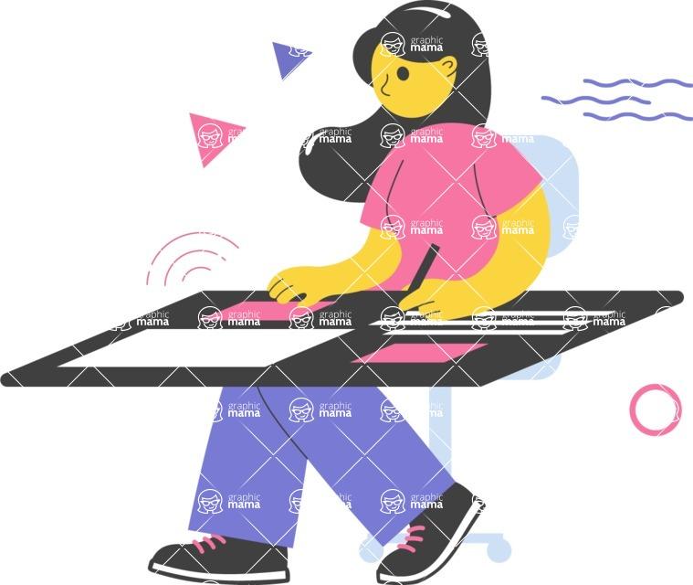 Modern Flat People Illustrations Bundle - free-people-illustration-67