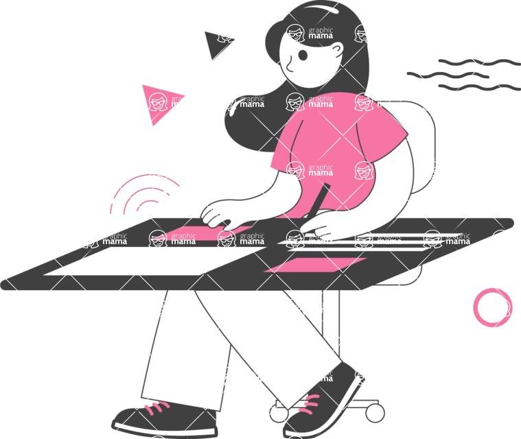 Modern Flat People Illustrations Bundle - free-people-illustration-68