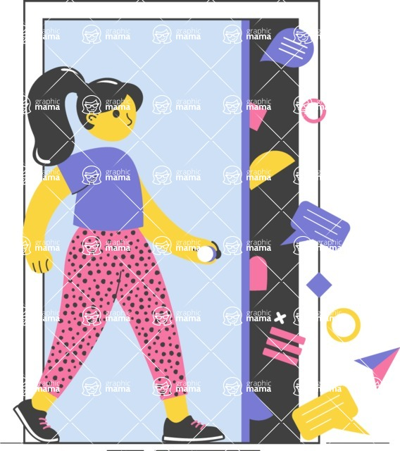 Modern Flat People Illustrations Bundle - free-people-illustration-77