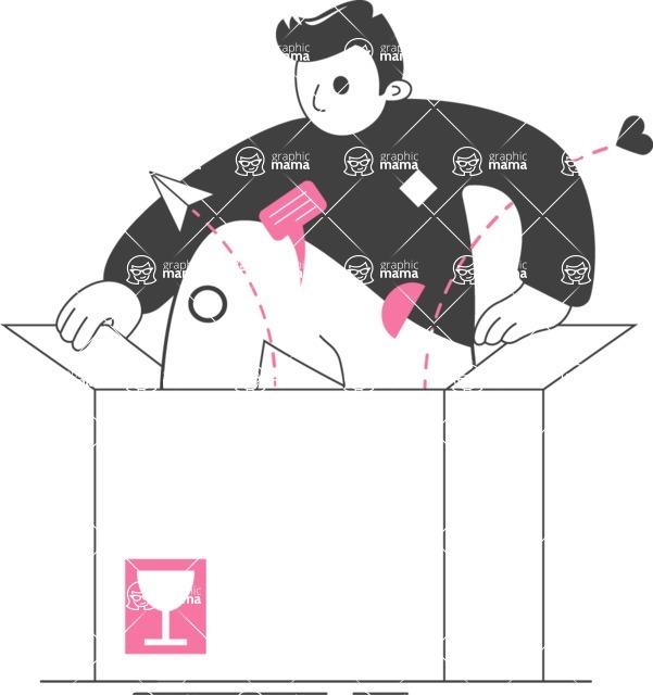 Modern Flat People Illustrations Bundle - free-people-illustration-84