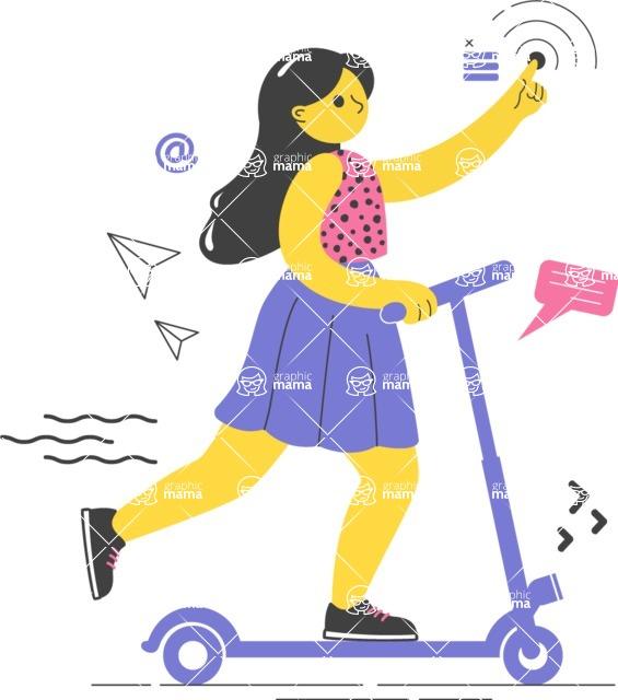 Modern Flat People Illustrations Bundle - free-people-illustration-87