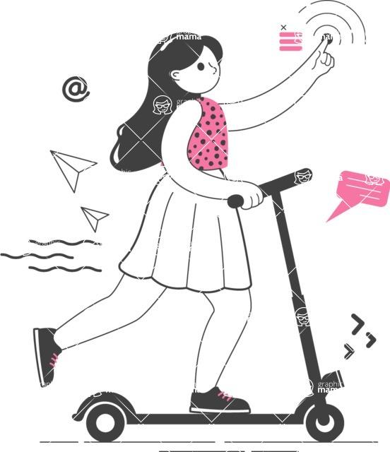 Modern Flat People Illustrations Bundle - free-people-illustration-88