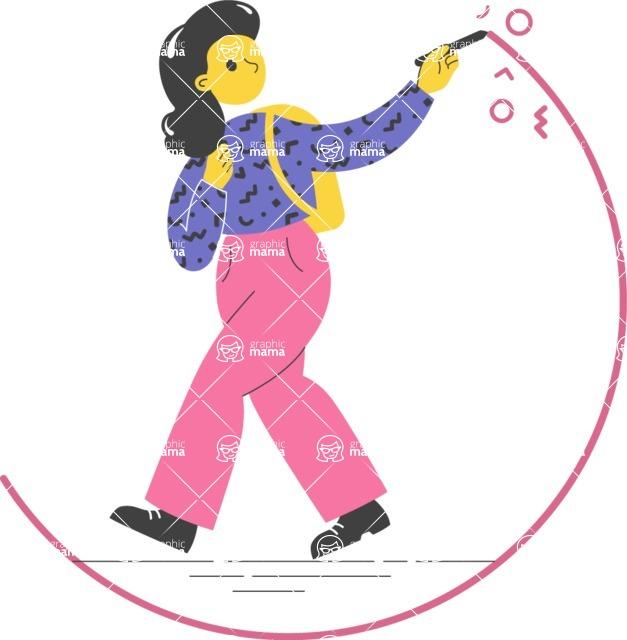 Modern Flat People Illustrations Bundle - free-people-illustration-9