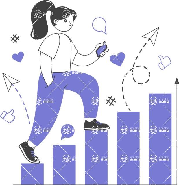 Modern Flat People Illustrations Bundle - free-people-illustration-94