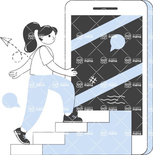 Modern Flat People Illustrations Bundle - free-people-illustration-96