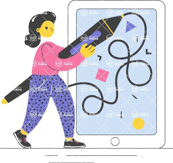 Modern Flat People Illustrations Bundle - free-people-illustration-97