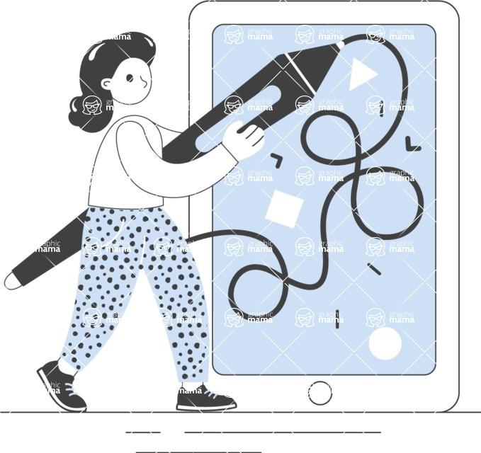 Modern Flat People Illustrations Bundle - free-people-illustration-98