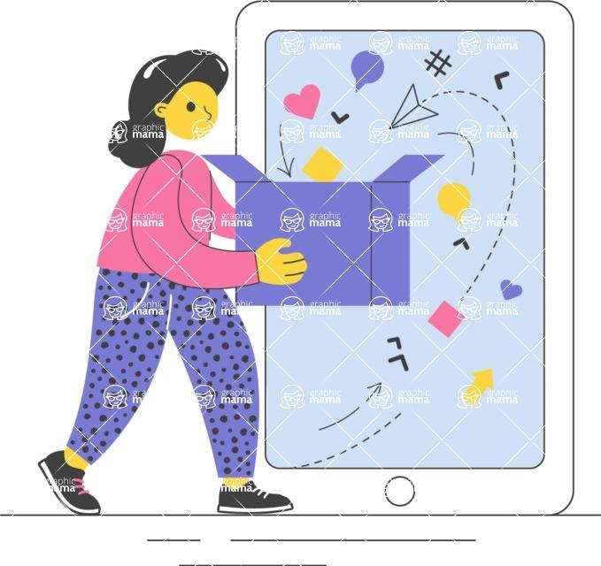 Modern Flat People Illustrations Bundle - free-people-illustration-99