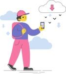 Modern Flat People Illustrations Bundle - free-people-illustration-103