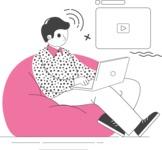 Modern Flat People Illustrations Bundle - free-people-illustration-14