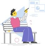 Modern Flat People Illustrations Bundle - free-people-illustration-17