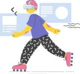 Modern Flat People Illustrations Bundle - free-people-illustration-23