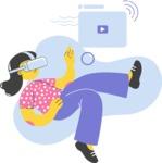 Modern Flat People Illustrations Bundle - free-people-illustration-25