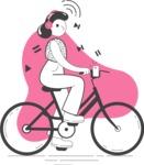 Modern Flat People Illustrations Bundle - free-people-illustration-4