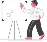 Modern Flat People Illustrations Bundle - free-people-illustration-41
