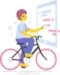 Modern Flat People Illustrations Bundle - free-people-illustration-5