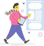 Modern Flat People Illustrations Bundle - free-people-illustration-51