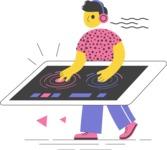 Modern Flat People Illustrations Bundle - free-people-illustration-55