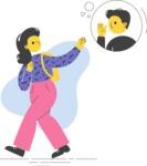 Modern Flat People Illustrations Bundle - free-people-illustration-7