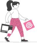 Modern Flat People Illustrations Bundle - free-people-illustration-74