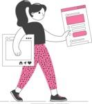 Modern Flat People Illustrations Bundle - free-people-illustration-76