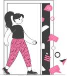 Modern Flat People Illustrations Bundle - free-people-illustration-78