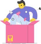 Modern Flat People Illustrations Bundle - free-people-illustration-83