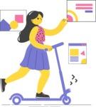 Modern Flat People Illustrations Bundle - free-people-illustration-89