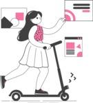Modern Flat People Illustrations Bundle - free-people-illustration-90