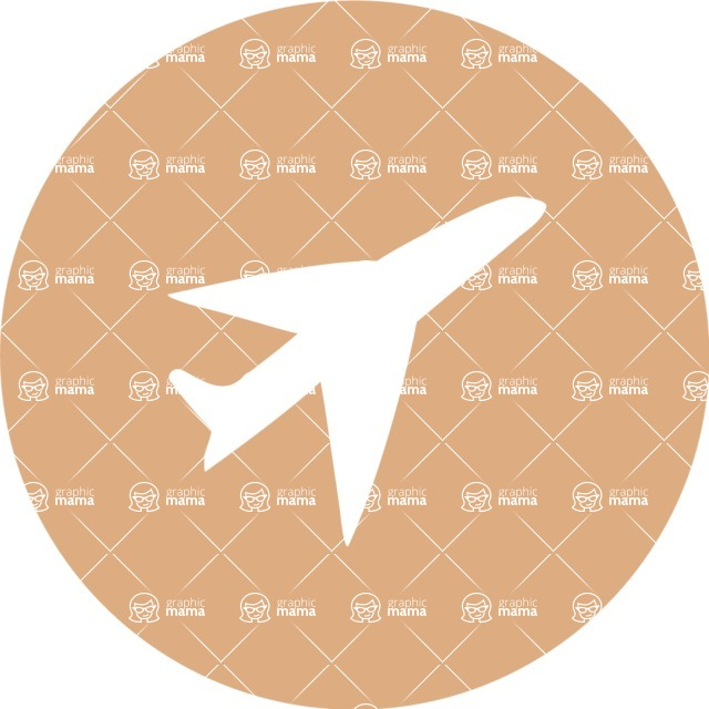 Collection of Business Vector graphics in flat design - Airplane Icon