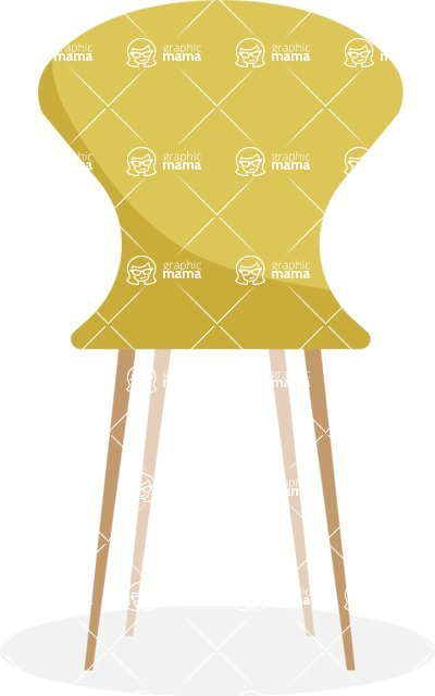 Collection of Business Vector graphics in flat design - Chair