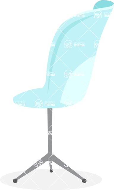 Collection of Business Vector graphics in flat design - Office Chair on Wheels