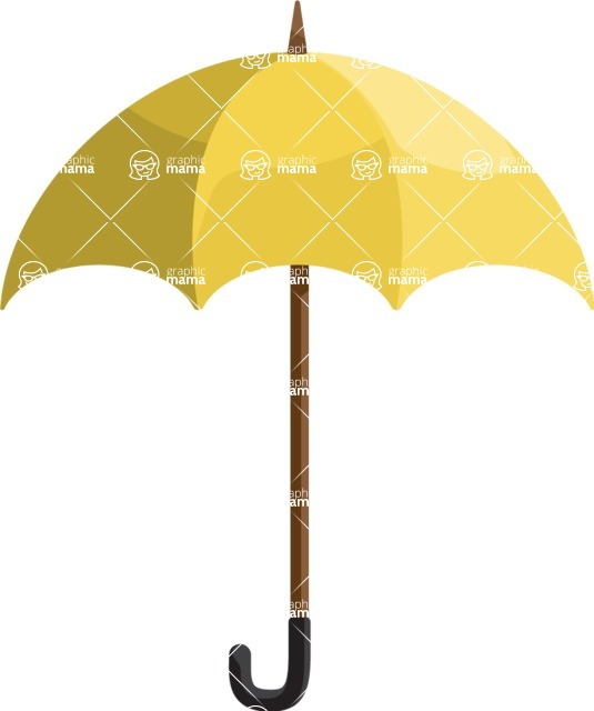 Collection of Business Vector graphics in flat design - Umbrella