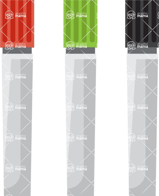 Collection of Business Vector graphics in flat design - Whiteboard Markers