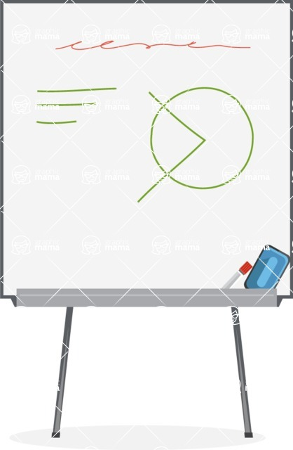 Collection of Business Vector graphics in flat design - Whiteboard