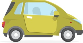 Collection of Business Vector graphics in flat design - Car