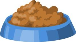 Pet Food in a Bowl