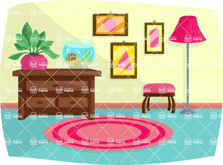 Pet Vectors - Mega Bundle - Living Room Interior
