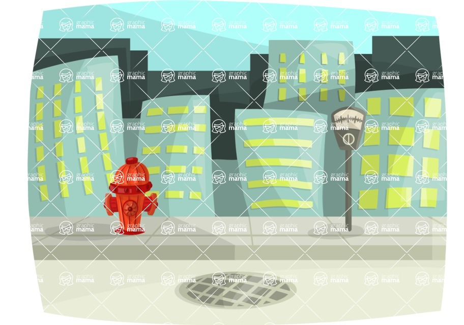 Pet Vectors - Mega Bundle - City Street View