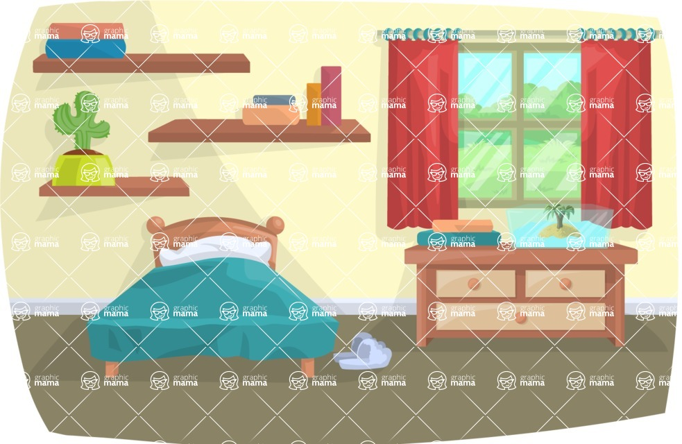 Pet Vectors - Mega Bundle - Bedroom Interior