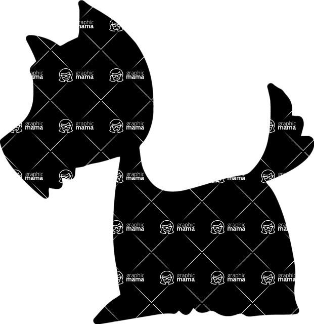 Pet Vectors - Mega Bundle - Terrier Silhouette