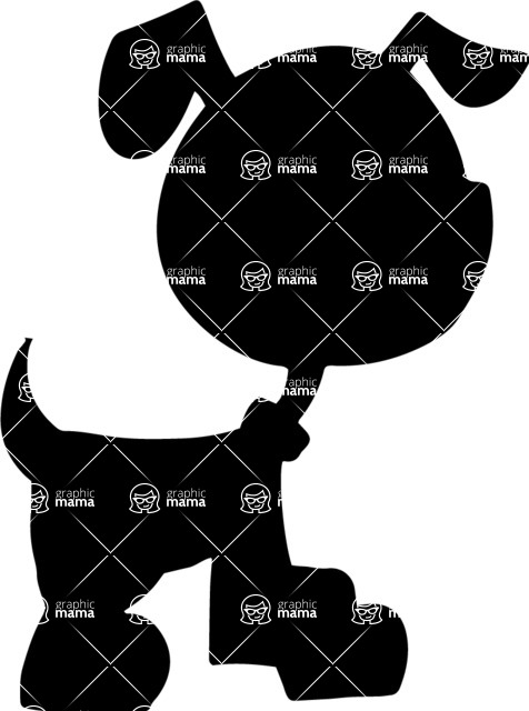 Pet Vectors - Mega Bundle - Puppy Silhouette