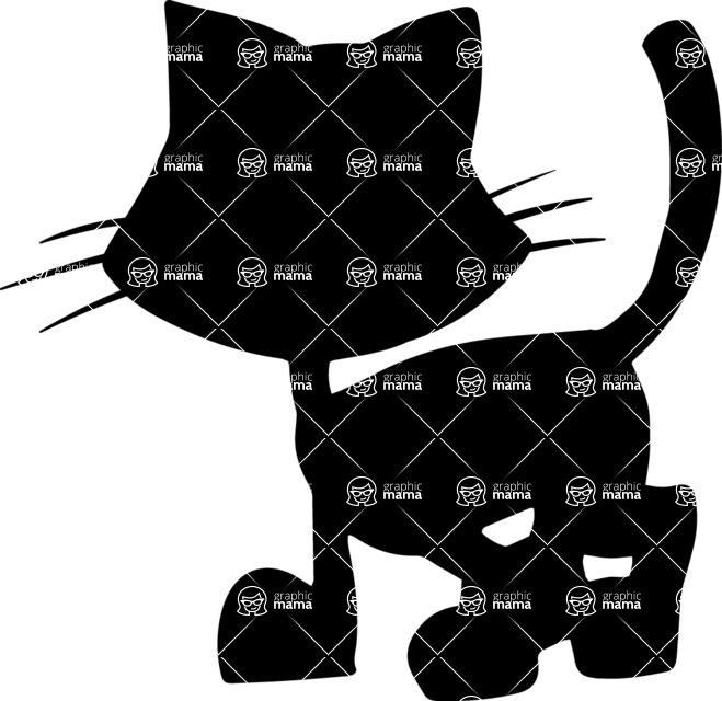 Pet Vectors - Mega Bundle - Kitten Silhouette
