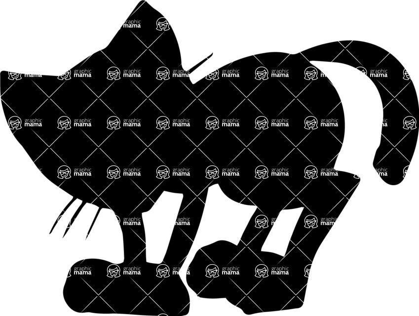 Pet Vectors - Mega Bundle - Cat Silhouette