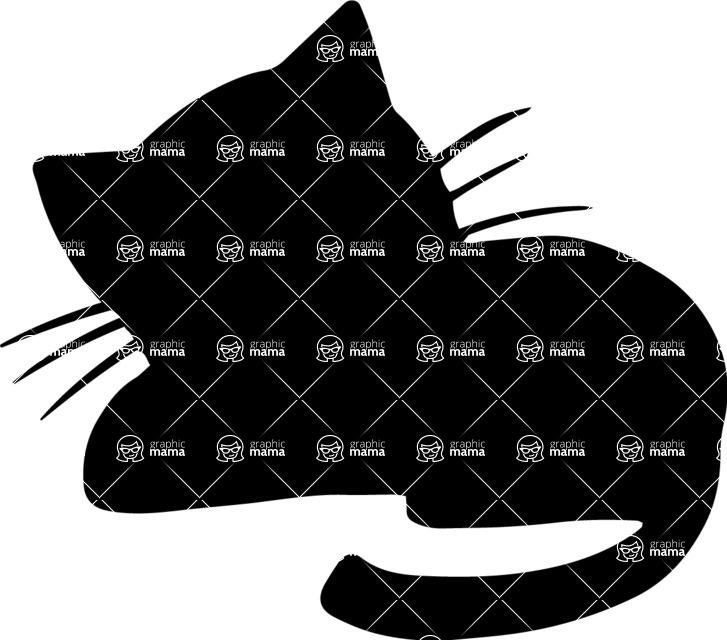 Sleeping Cat Vector Silhouette | GraphicMama